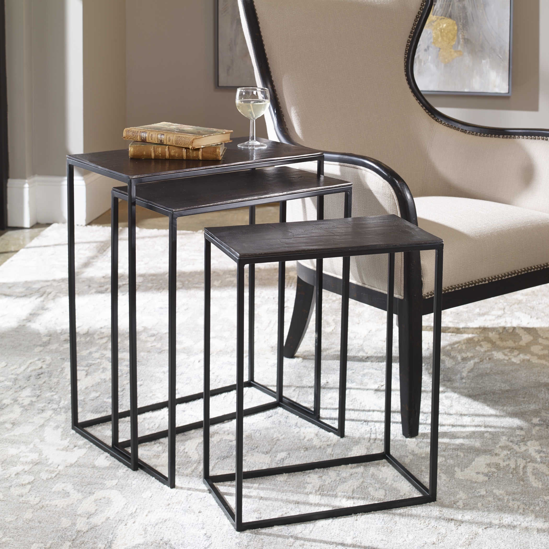 Collins Nesting Tables —Set of 3 - WishBasket