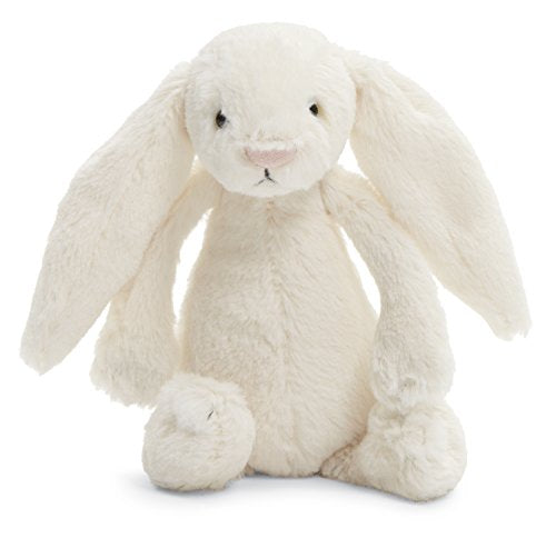 Jellycat Bashful Cream Bunny Stuffed Animal, Small, 7 inches - WishBasket