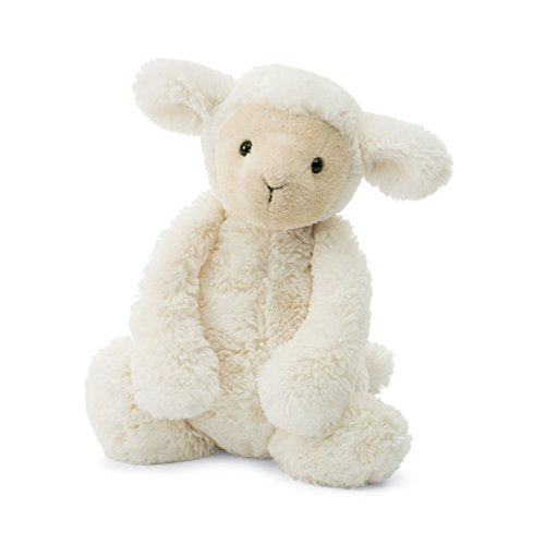 Jellycat Bashful Lamb Stuffed Animal, Small, 7 inches - WishBasket