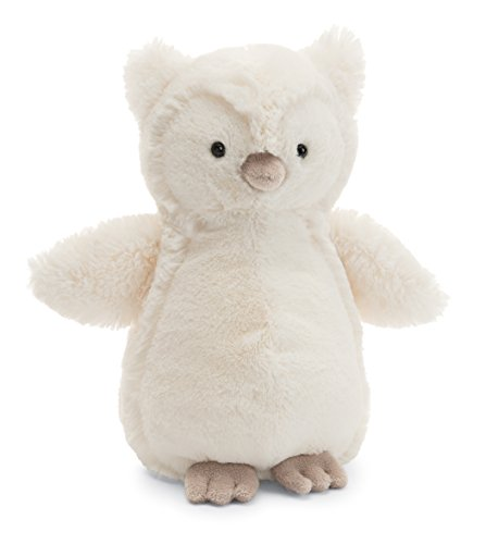 Jellycat Bashful Owl Stuffed Animal, Medium, 12 inches - WishBasket