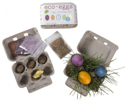 Eco-Eggs Coloring & Grass Growing Kit - WishBasket