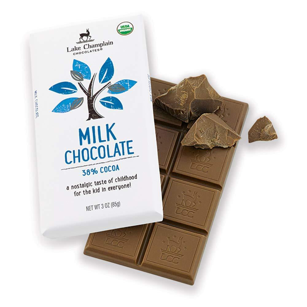 Lake Champlain Chocolates 38% Organic Milk Chocolate Candy Bar, 3 Ounces - WishBasket