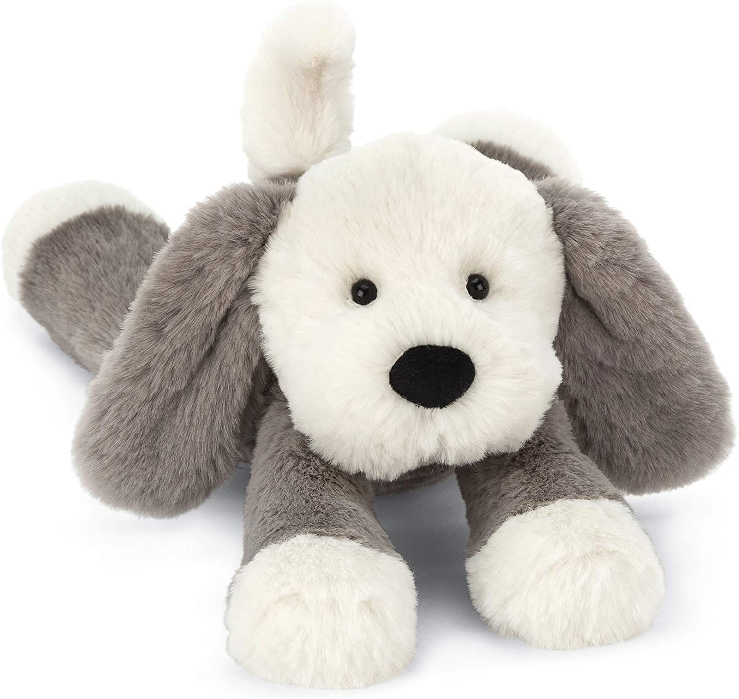 Jellycat Smudge Puppy Stuffed Animal, 14 inches - WishBasket