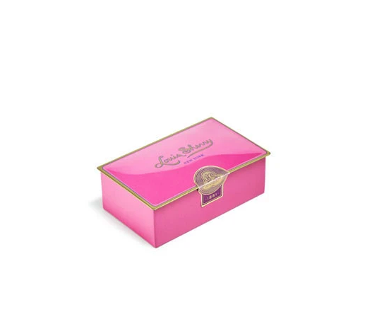 Louis Sherry Draper Pink Two-Piece Chocolate Truffle Tin - WishBasket