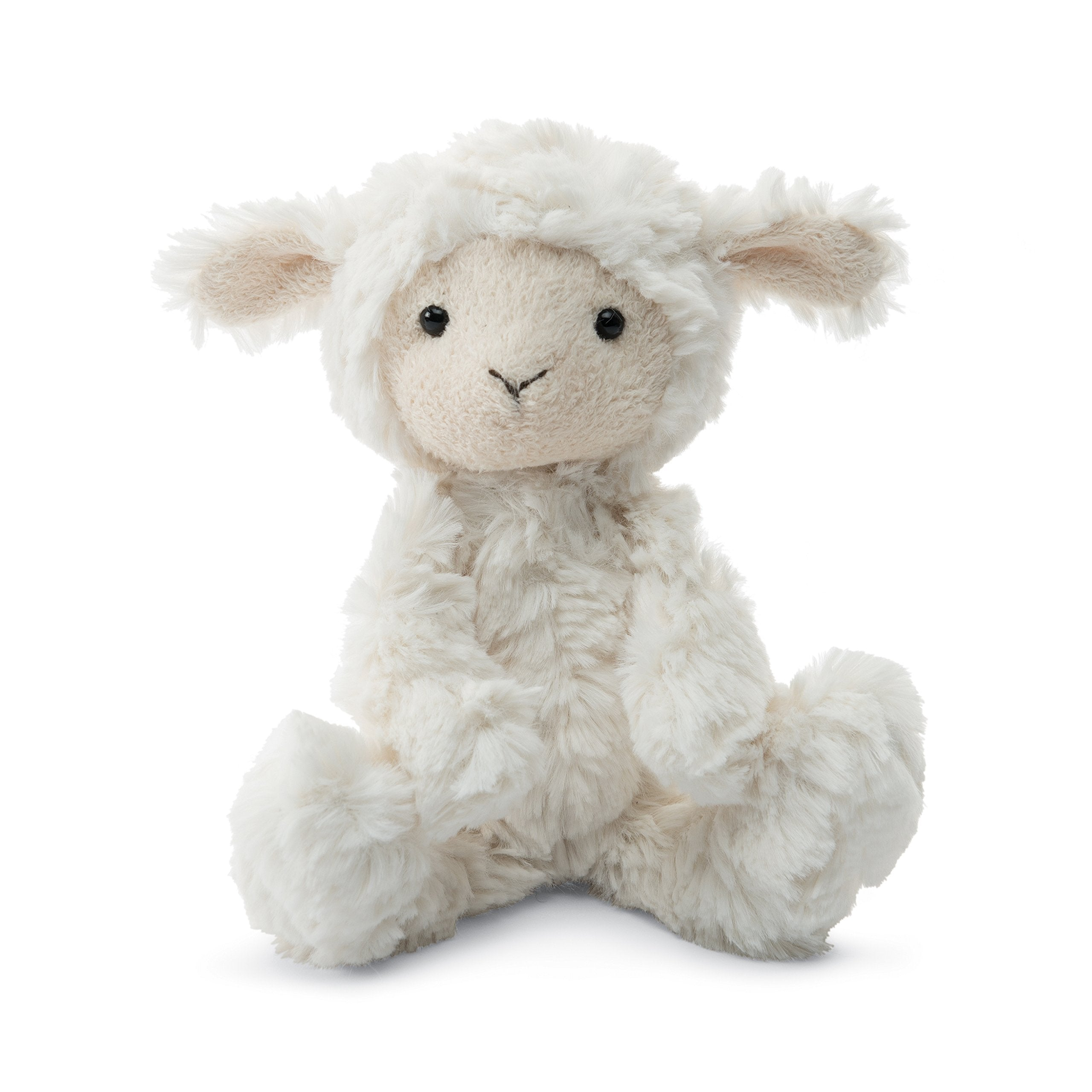 Jellycat Squiggle Lamb Stuffed Animal, Small, 9 inches - WishBasket