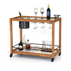 Oakland Bar Cart-Light Acacia - WishBasket