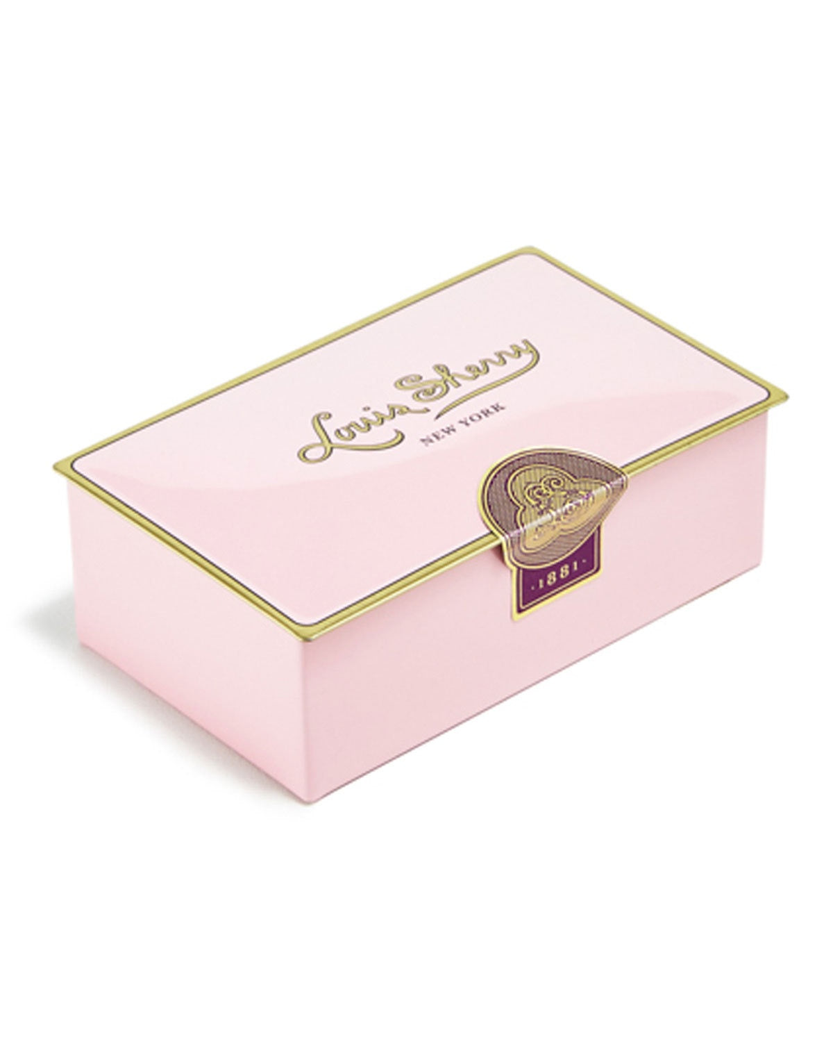 Louis Sherry Camellia Pink Two-Piece Chocolate Truffle Tin - WishBasket