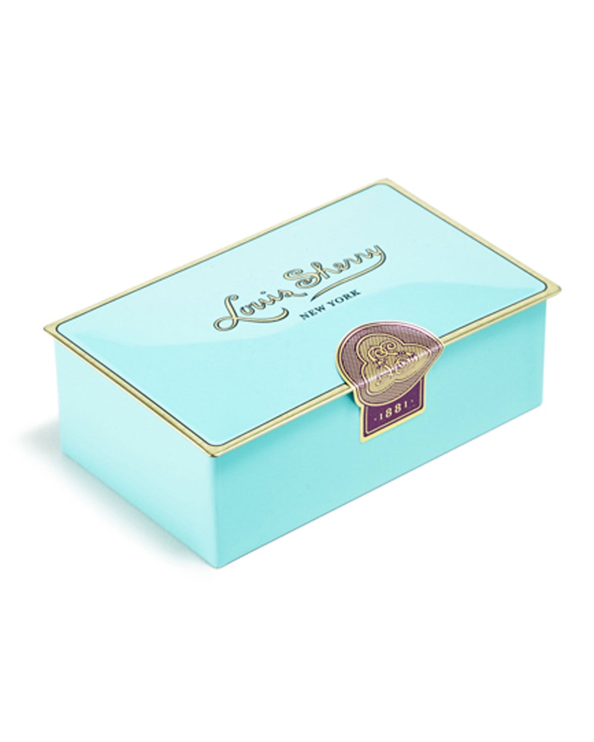 Louis Sherry Nile Blue Two-Piece Chocolate Truffle Tin - WishBasket