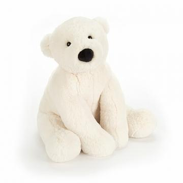 Jellycat Perry Polar Bear Stuffed Animal, Small 8 inches - WishBasket