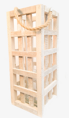 White Washed Wood Lantern - WishBasket