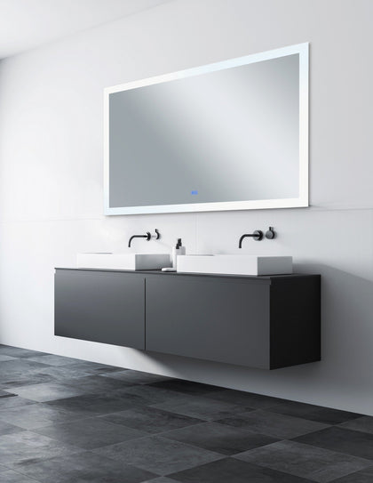 Rectangle Matte White LED 70 in. Mirror From our Abigail Collection