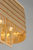 Glamour 6-Light Linear Chandelier