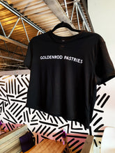 Load image into Gallery viewer, Goldenrod Pastries Black Crop Tee