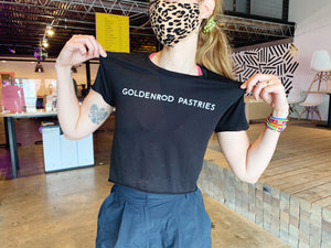 Goldenrod Pastries Black Crop Tee
