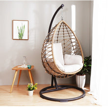 Load image into Gallery viewer, Comfortable Rattan Hanging Egg Chair