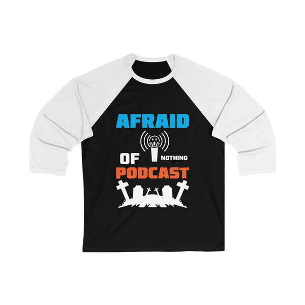 Afraid of Graveyard 2 - Unisex 3/4 Sleeve Baseball Tee