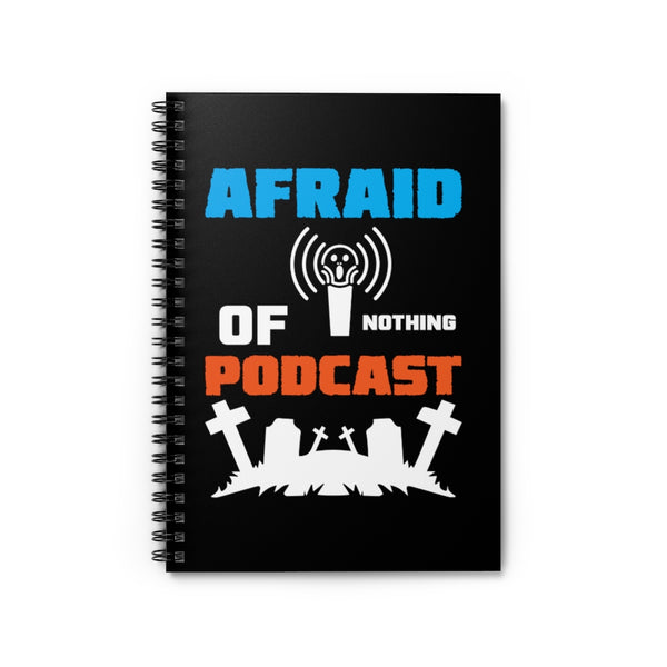 Afraid of Graveyard 2 Black Spiral Notebook - Ruled Line