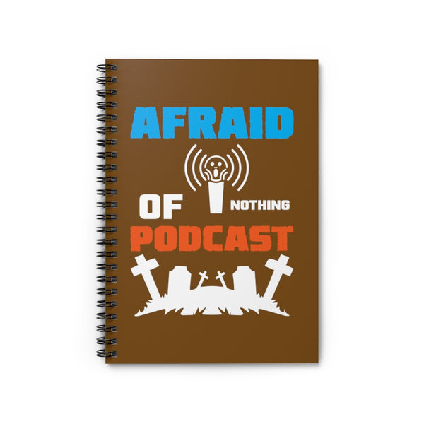 Afraid of Graveyard 2 Brown Spiral Notebook - Ruled Line