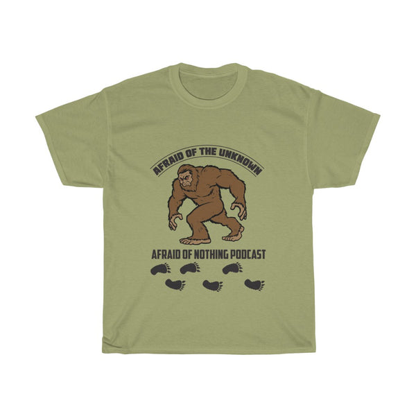 Afraid of Bigfoot - Unisex Heavy Cotton Tee