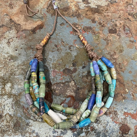 Recycled Paper Necklace-Haiti