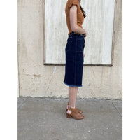 KanCan Denim Midi Skirt