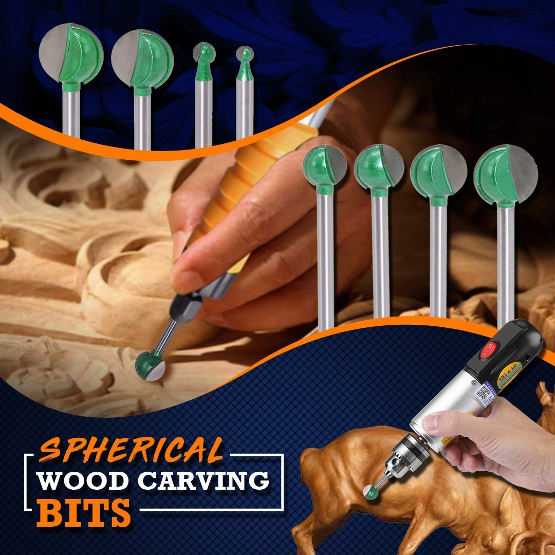 Spherical Wood Carving Bits