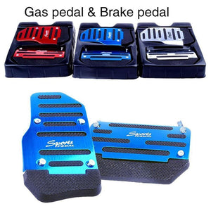 Anti-Slip Universal Aluminum Car Brake Pedals Cover Set