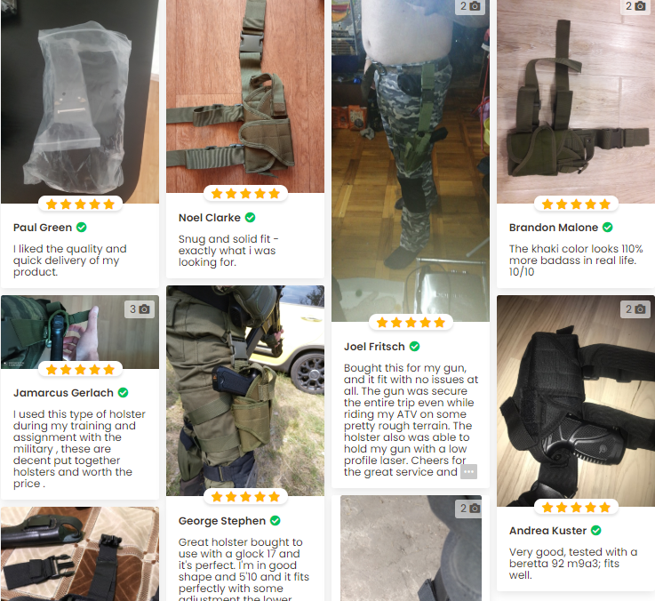 Heavy Duty Tactical Leg Holster