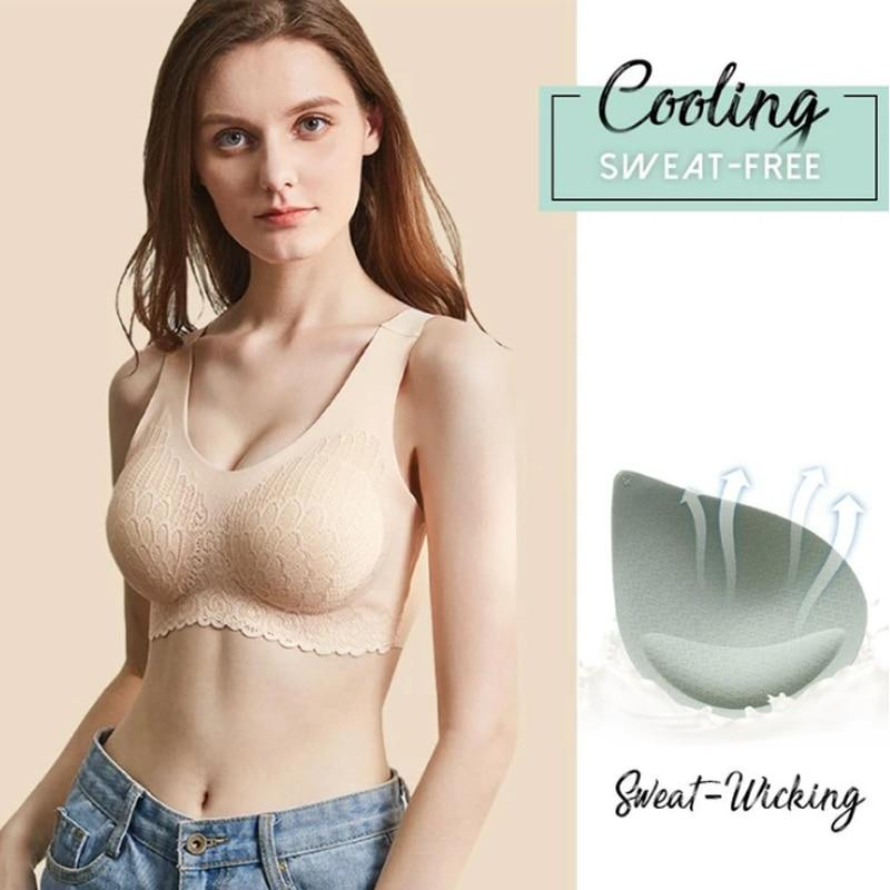 Hot 5D Wireless Latex Silky Bra -No deformation-Buy more save more!!
