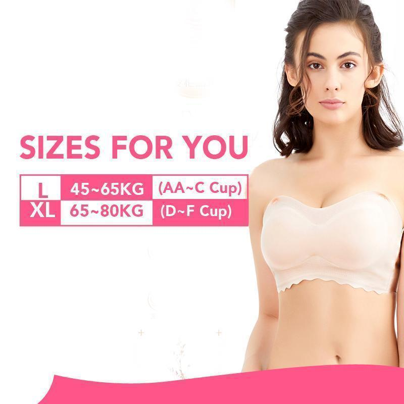 (From S-6XL) Ice Silk Tube Bra - buy 2 (use code:b10) get extra 10% OFF,buy 3 get extra 15% OFF +Free shipping!