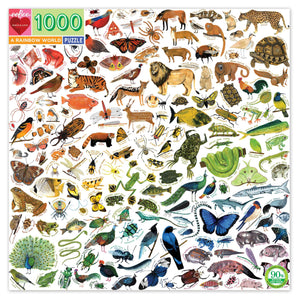 Living things of every hue Are gathered here to challenge you: Mammals, insects, fish, and birds! This puzzle's worth a thousand words! As you puzzle, please consider The wonder that is every critter!