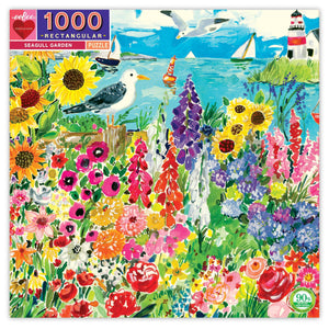 Puzzle your way through a beautiful Seaside Garden. Discover seashells, starfish, lobsters, and flourishing blooms.