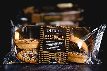 Diforti Italian Pastry Puffs - Barchette Hazelnut Chocolate