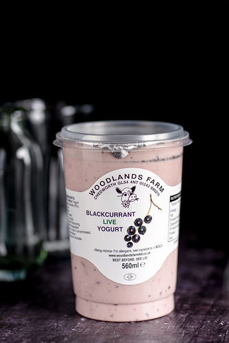 Woodlands Farm Blackcurrant Live Yoghurt - 560ml