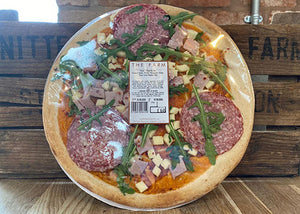 The Farm's Homemade Salami Pizza