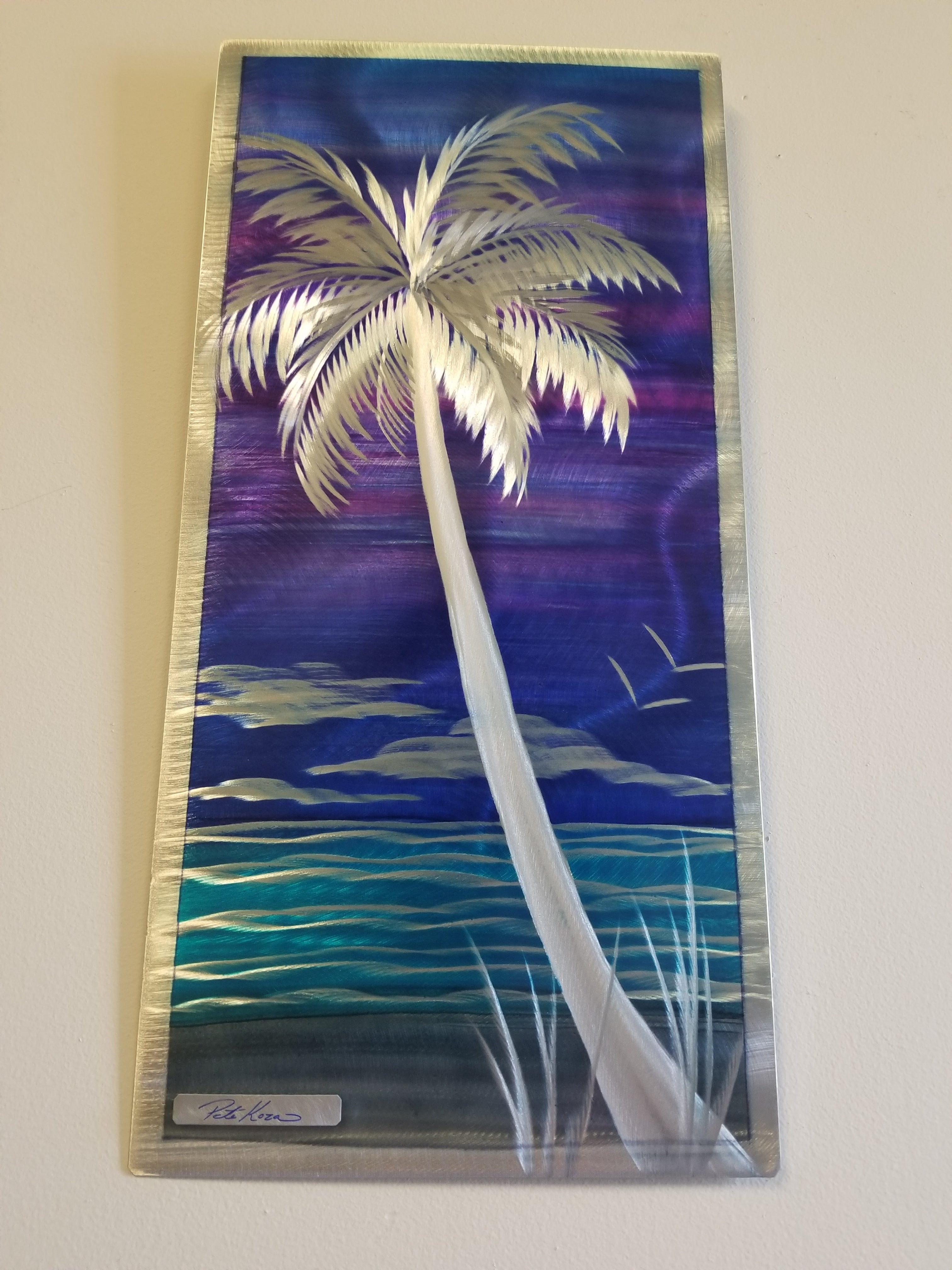 Tropical Purple Palm 12x24