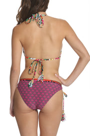 Kokua Bikini Set Plum and Pink Print