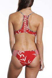 Honi Bikini Set Neutral Palms Print