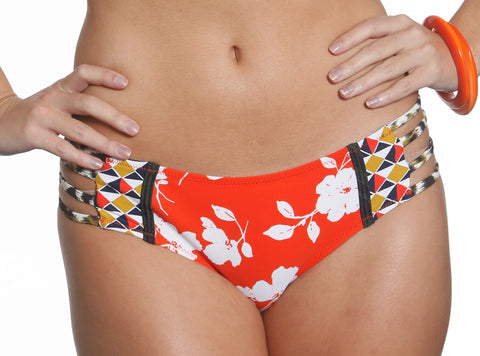 Honi Bikini Set Sun Diamonds Print