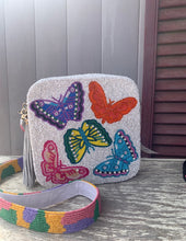 Multi Butterfly Beaded Purse