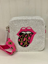 Pink Leopard Mouth Square Beaded Purse