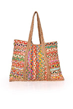 Orchid Braided Chindi Tote