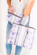 Neoprene Purple Splatter Purse
