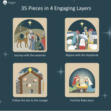 Load image into Gallery viewer, Nativity Puzzle 4 Layers