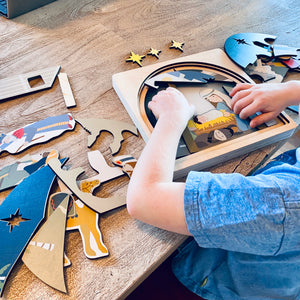 Wooden puzzles for toddlers playing with Christmas nativity puzzle