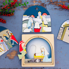 Load image into Gallery viewer, Wooden puzzles Australia nativity puzzle Christmas