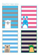 Load image into Gallery viewer, Bear and Bunny Baby Quilt Pattern PDF