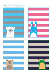 Bear and Bunny Baby Quilt Pattern PDF