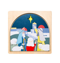 Load image into Gallery viewer, Wooden puzzles Australia nativity puzzle Christmas shepherds