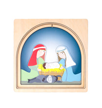 Load image into Gallery viewer, Wooden puzzles Australia nativity puzzle Christmas joseph mary Jesus